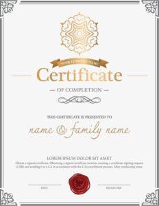 Atmosphere Retro European Style Border Certificates, Diploma regarding Certificate Of Authorization Template