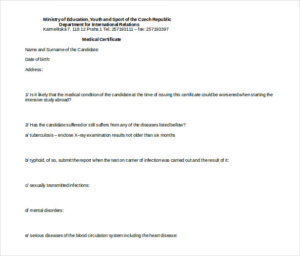 Australian Doctors Certificate Template (3) – Templates Pertaining To Australian Doctors Certificate Template