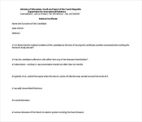Australian Doctors Certificate Template (3) - Templates Pertaining To Australian Doctors Certificate Template