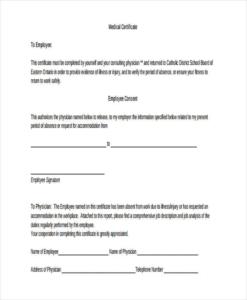 Australian Doctors Certificate Template (7) – Templates Throughout Australian Doctors Certificate Template