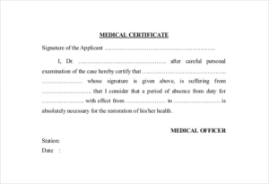 Australian Doctors Certificate Template (8) – Templates Regarding Unique Australian Doctors Certificate Template