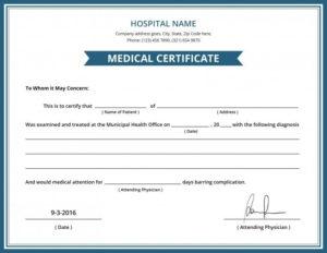 Australian Doctors Certificate Template | Doctors Note For Australian Doctors Certificate Template