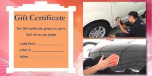 Automotive Gift Certificate Template (3) – Templates Example for Automotive Gift Certificate Template