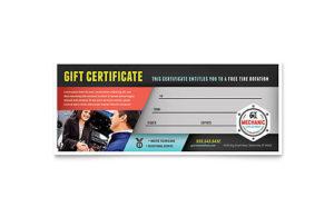 Automotive & Transportation Gift Certificate Templates for Fresh Automotive Gift Certificate Template
