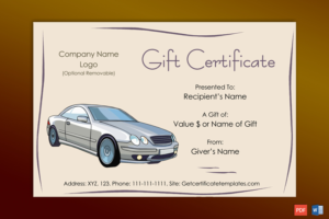 Autos Gift Certificate Template – Gct with regard to Fresh Automotive Gift Certificate Template