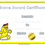 Award Certificate For Being Brave | Bravery Awards, Awards within Bravery Certificate Template 10 Funny Ideas