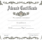 Award Certificate (Royal, #951) | Certificate Of Achievement for Unique Free Template For Certificate Of Recognition