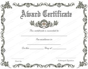 Award Certificate (Royal, #951) | Certificate Of Achievement regarding Quality Microsoft Word Award Certificate Template