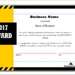 Award Certificate Sample Template For Ms Word | Document Hub In Fresh Sample Award Certificates Templates
