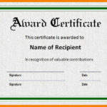Award Certificate Template Doc Docx Examples Certificates Inside Fresh Sample Award Certificates Templates