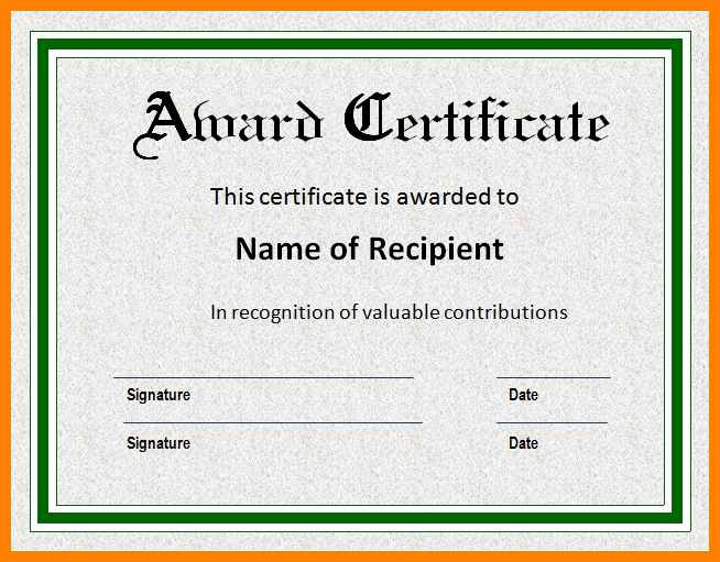 Award-Certificate-Template-Doc-Docx-Examples-Certificates inside Fresh Sample Award Certificates Templates