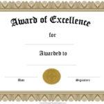 Award Certificate Templates | Free Certificate Templates within Fun Certificate Templates
