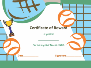 Award Certificate Templates | Soft – Templates regarding Tennis Certificate Template Free