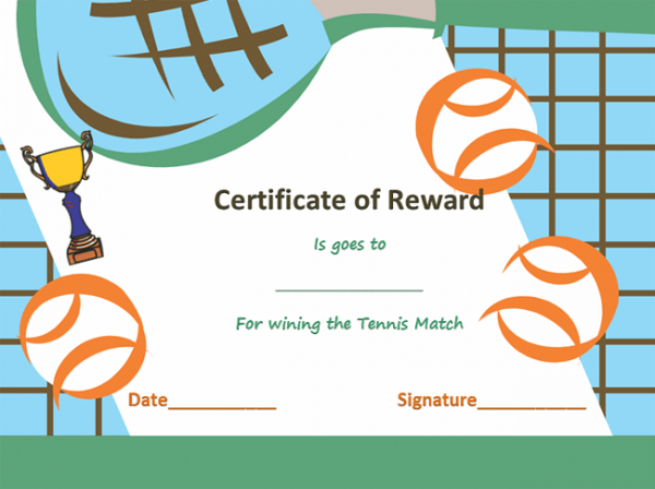 Award Certificate Templates | Soft - Templates with regard to Best Tennis Achievement Certificate Templates