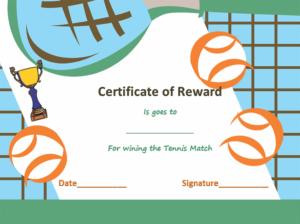 Award Certificate Templates | Soft – Templates with Unique Tennis Tournament Certificate Templates