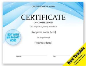 Award Certificate Templates Word 2007 (3) – Templates intended for Award Certificate Templates Word 2007