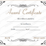 Award Of Excellence Template – For Word Throughout Best Award Of Excellence Certificate Template