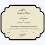 Award Of Honor (Editable Template) – Word Layouts | Award Regarding Honor Award Certificate Templates