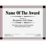 Award Printable Certificate Template Intended For New Mvp Award Certificate Templates Free Download