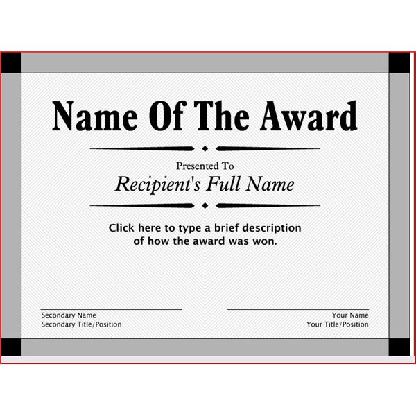 Award-Printable Certificate Template intended for New Mvp Award Certificate Templates Free Download