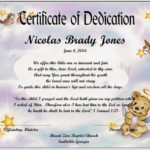 Baby Dedication Certificate Template | Baby Dedication Pertaining To Pet Birth Certificate Template 24 Choices