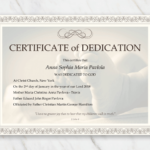 Baby Dedication Certificate Template For Word [Free Printable] Pertaining To Free Fillable Baby Dedication Certificate Download