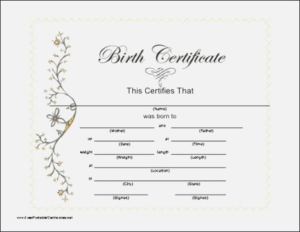 Baby Doll Birth Certificate Template (1) - Templates Example pertaining to Best Baby Doll Birth Certificate Template
