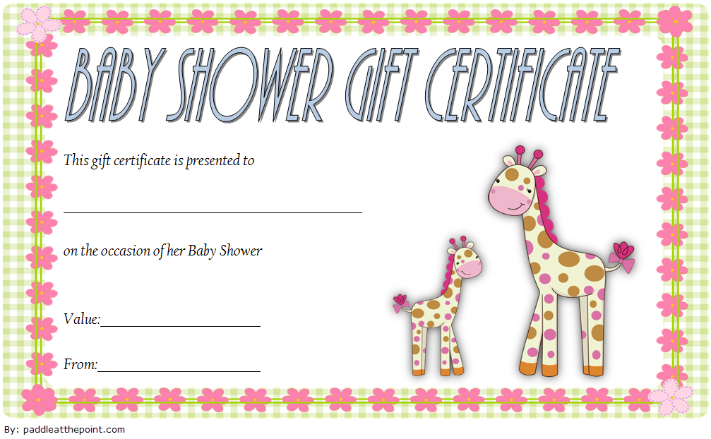 Baby Shower Gift Certificate Template Free 3 | Gift in New Baby Shower Game Winner Certificate Templates