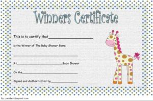 Baby Shower Winner Certificate Free Printable 1   Baby for Baby Shower Winner Certificates