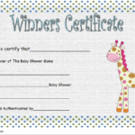 Baby Shower Winner Certificate Free Printable 1 | Baby Inside New Baby Shower Game Winner Certificate Templates