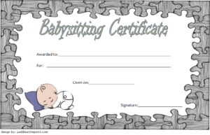 Babysitting Certificate Template Free 2 pertaining to Quality Babysitting Certificate Template