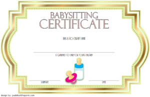 Babysitting Certificate Template Free 5 | Certificate with regard to Babysitting Certificate Template