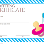 Babysitting Certificate Template Free 6 | Certificate for Quality Babysitting Certificate Template