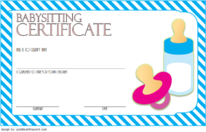 Babysitting Certificate Template Free 6 | Certificate inside Babysitting Certificate Template 8 Ideas
