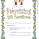 Babysitting Gift Certificate Template 4 Free | One Package Within Free Printable Babysitting Gift Certificate