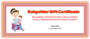Babysitting Voucher Template – Microsoft Word Templates with regard to Quality Free Printable Babysitting Gift Certificate