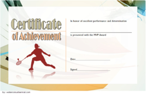 Badminton Achievement Certificate Free Printable 1 intended for Badminton Achievement Certificates