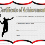 Badminton Achievement Certificate Free Printable 3 pertaining to Badminton Achievement Certificate Templates