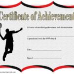 Badminton Achievement Certificate Free Printable 3 regarding New Badminton Achievement Certificates