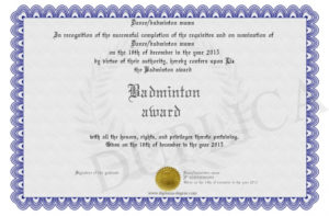Badminton-Award pertaining to New Badminton Achievement Certificates