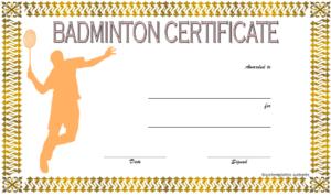 Badminton Certificate Template Free 3 | Certificate within Badminton Certificate Template
