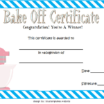 Bake Off Certificate Template Free Printable 2 | Two Package For Bake Off Certificate Templates