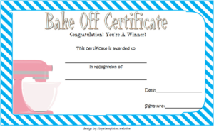 Bake Off Certificate Template Free Printable 2 | Two Package throughout New Bake Off Certificate Template