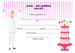 Bake Off Winner Certificate | Cake Competition, Funny Awards inside Cooking Contest Winner Certificate Templates