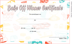 Bake Off Winner Certificate Template Free 1 | Bake Off with Best Bake Off Certificate Templates