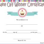 Bake Off Winner Certificate Template Free 2 | Certificate Within Best Bake Off Certificate Templates