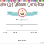 Bake Off Winner Certificate Template Free 2 | Certificate Within Best Certificate Of Cooking 7 Template Choices Free