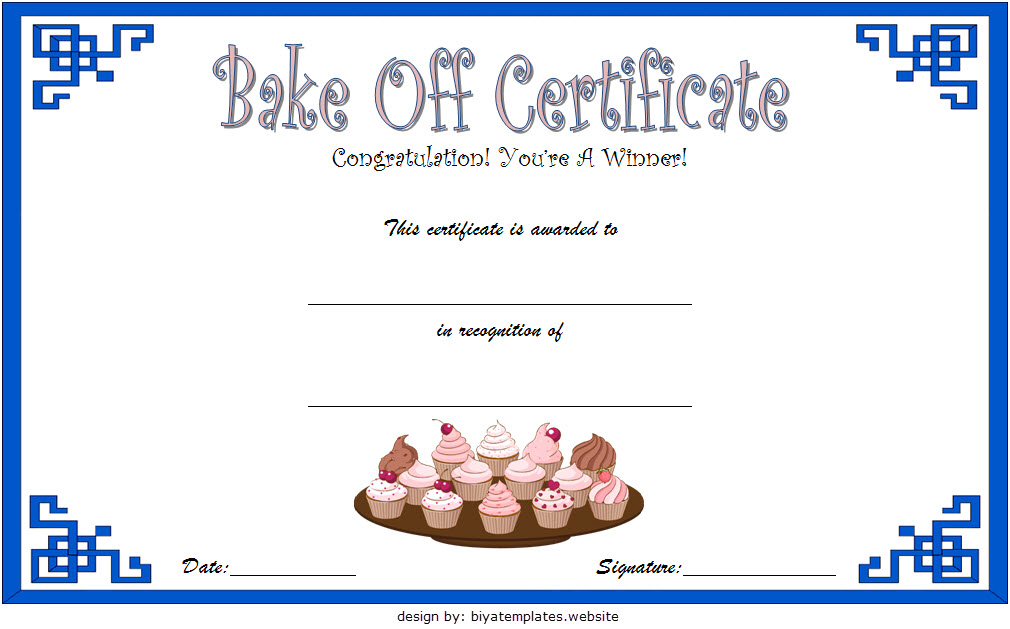 Baking Contest Certificate Template Free 2 | Certificate intended for Best Bake Off Certificate Templates
