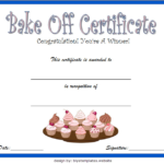 Baking Contest Certificate Template Free 2 | Certificate Throughout Certificate For Baking 7 Extraordinary Concepts