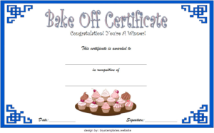 Baking Contest Certificate Template Free 2 | Certificate throughout First Aid Certificate Template Top 7 Ideas Free